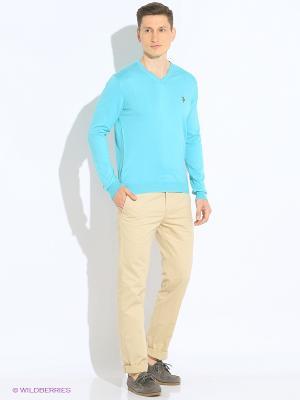 Кофта U.S. Polo Assn.. Цвет: голубой
