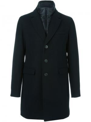 Пальто с двойным воротником Herno. Цвет: чёрный