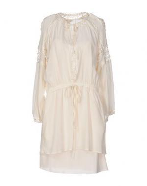 Короткое платье GOLD HAWK. Цвет: слоновая кость
