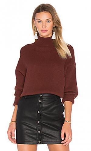 Свободный свитер с ложным воротником Autumn Cashmere. Цвет: коричневый