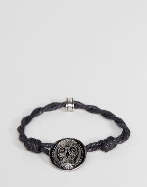 Icon Brand Черный браслет-шнурок. Цвет: черный