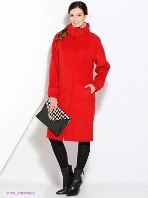 Пальто Gamelia. Цвет: красный