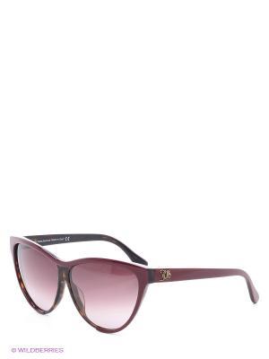 Солнцезащитные очки JG 0061 71Z John Galliano. Цвет: бордовый