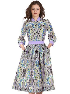 Платье OLIVEGREY. Цвет: синий, черный