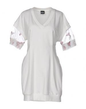 Короткое платье PF PAOLA FRANI. Цвет: слоновая кость