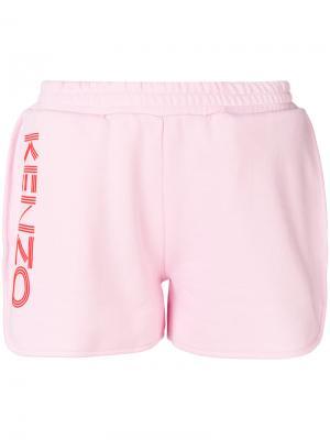 Спортивные шорты с принтом логотипа Kenzo. Цвет: розовый и фиолетовый