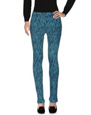 Повседневные брюки PF PAOLA FRANI. Цвет: цвет морской волны