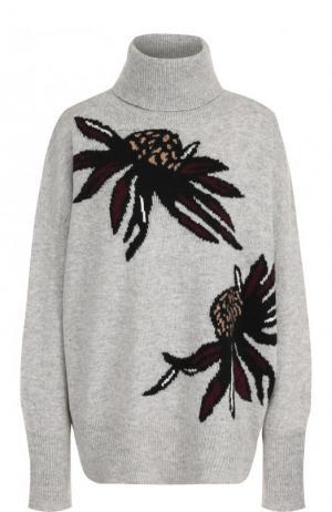Шерстяной свитер свободного кроя с принтом Markus Lupfer. Цвет: серый