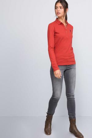 Лонгслив-поло U.S. Polo Assn.. Цвет: vr014 красный