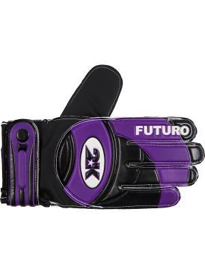 Перчатки вратарские Futuro 2K. Цвет: черный, темно-фиолетовый