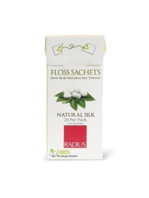 Нить зубная без вкуса в одноразовых упаковках Radius. Цвет: белый