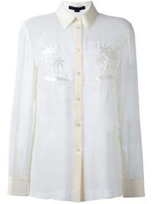 Рубашка с вышивкой пальм Alexander Wang. Цвет: белый