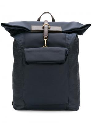 Рюкзак с передним карманом Mismo. Цвет: синий
