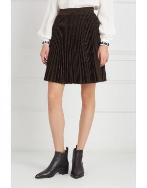 Шерстяная юбка Antonino Valenti. Цвет: черный, бронзовый