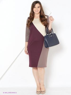 Платье BALSAKO. Цвет: бордовый