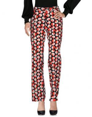 Повседневные брюки LAURA URBINATI. Цвет: красный