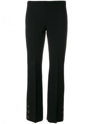 Строгие трикотажные брюки Sonia Rykiel. Цвет: чёрный