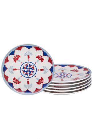 Десертная тарелка Стамбул 6 шт Biona. Цвет: мультиколор
