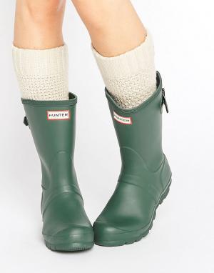 Hunter Резиновые сапоги Original. Цвет: зеленый