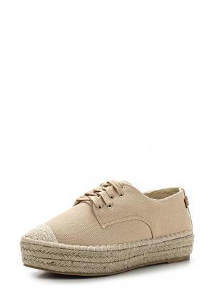 Эспадрильи Max Shoes. Цвет: бежевый