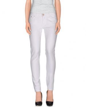 Повседневные брюки DON WASH. Цвет: белый