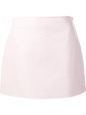 Прямая юбка мини Courrèges. Цвет: розовый и фиолетовый