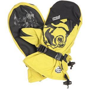 Варежки сноубордические  Bear Claw True Yellow Pow. Цвет: желтый,черный