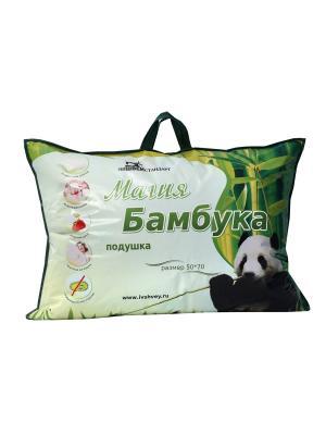 Подушка Магия Бамбука ИвШвейСтандарт. Цвет: белый, сливовый