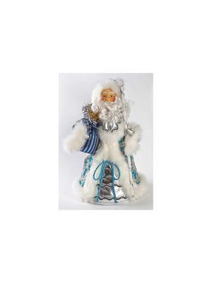 Кукла Дед Мороз 38 см, голуб. Новогодняя сказка. Цвет: синий