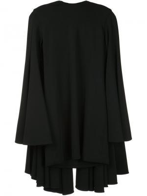 Платье с накидкой Brandon Maxwell. Цвет: чёрный
