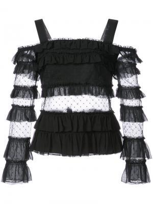 Блузка с рюшами Alexis. Цвет: чёрный