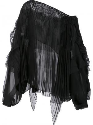 Longsleeved pleated blouse Alexandre Vauthier. Цвет: чёрный