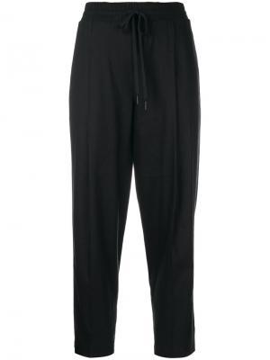 Классические укороченные брюки DKNY. Цвет: чёрный