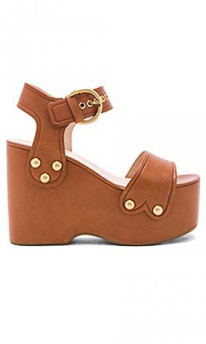 Обувь на танкетке lana Marc Jacobs. Цвет: коричневый