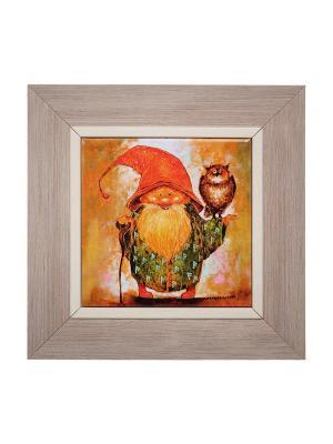 Картина Волшебник, дарящий возрождение Artangels. Цвет: оранжевый, красный, серый
