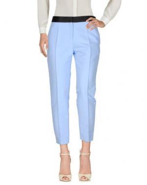 Повседневные брюки CÉLINE. Цвет: небесно-голубой