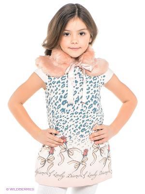 Платье Wojcik. Цвет: кремовый, морская волна