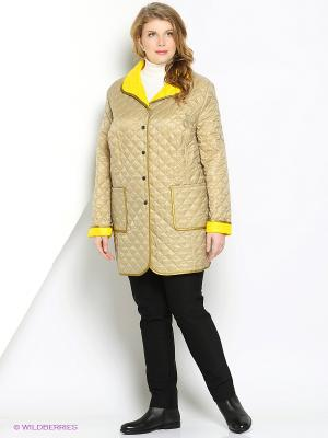 Пальто Mona Lisa. Цвет: бежевый, желтый