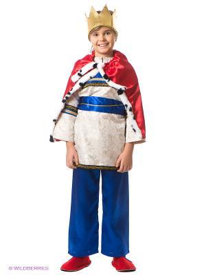 Карнавальный костюм Царь Волшебный мир. Цвет: синий, золотистый