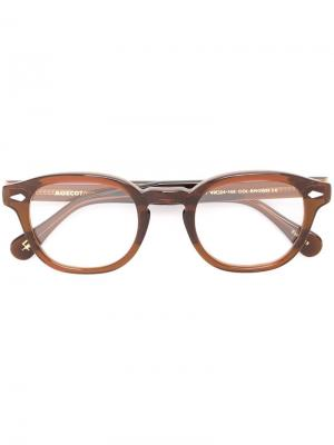 Очки Lemtosh 49 Moscot. Цвет: коричневый