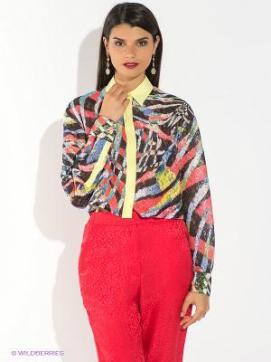 Блузка Just Cavalli. Цвет: черный, голубой, красный, желтый