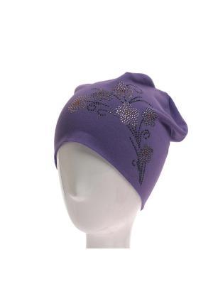Шапка Jane Flo. Цвет: фиолетовый