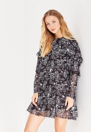 Платье LOST INK. Цвет: черно-белый