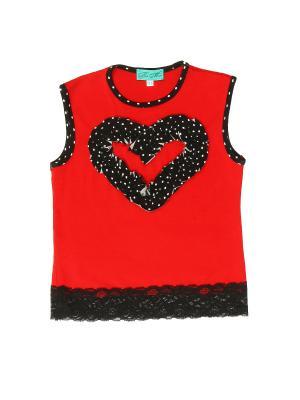 Блуза PETITE MARI. Цвет: красный