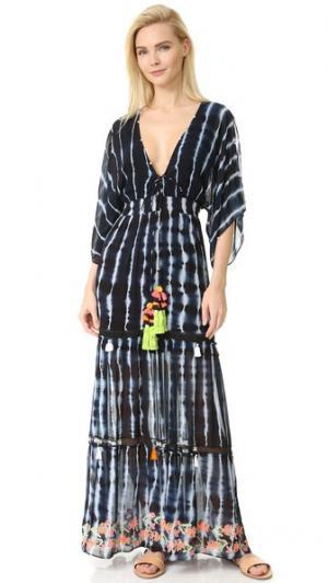 Длинное платье Dip & Dive Hemant and Nandita. Цвет: темно-синий