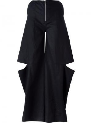 Широкие брюки с вырезными деталями Eckhaus Latta. Цвет: чёрный