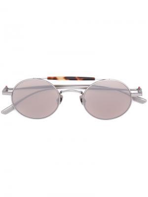 Солнцезащитные очки Nettuno Kiton. Цвет: коричневый