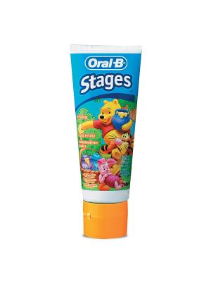 Зубная паста Stages Winni Ягодный взрыв (Berry Bubble) 75мл ORAL_B. Цвет: темно-синий, желтый