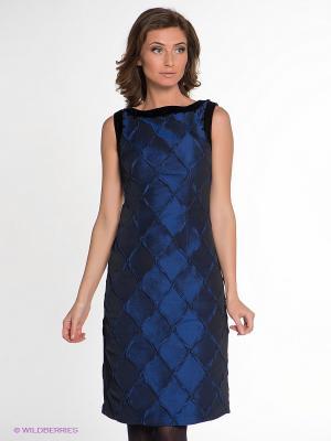 Платье IMAGO. Цвет: синий, черный