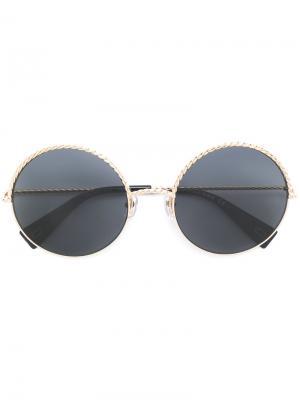 Солнцезащитные очки с круглой оправой Marc Jacobs Eyewear. Цвет: металлический